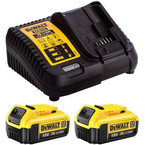 Dewalt DCB182 18V Li-ion 2 x 4.0Ah Batteries Twin Pack & DCB115 Charger Kit:18V
