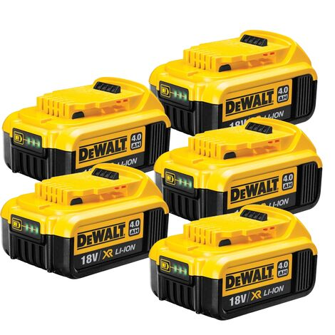Dewalt DCB182 18v XR 4.0Ah Battery - 5 Pack
