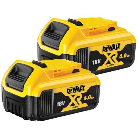 DeWalt DCB182 18V XR Li-Ion 4.0Ah Batteries Twin Pack