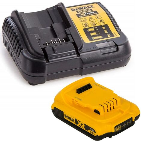 Dewalt DCB183 XR 18v Battery Li-Ion 2.0Ah DCB183 & DCB113 Charger