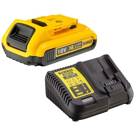 Dewalt DCB183 XR 18v Lithium Ion Battery Pack 2.0Ah + DCB115 Charger