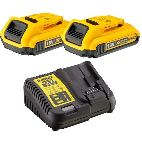 Dewalt DCB183 XR 18v Lithium Ion Battery Twin Pack 2.0Ah + DCB115 Charger