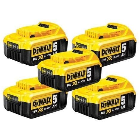 DEWALT DCB184 18V 5ah Battery 5 Pck |