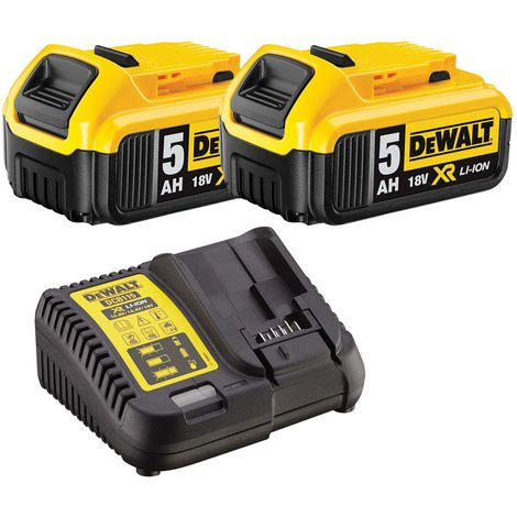 Dewalt DCB184 18V Li-ion 5.0Ah Battery Twin Pack & DCB115 Charger Kit