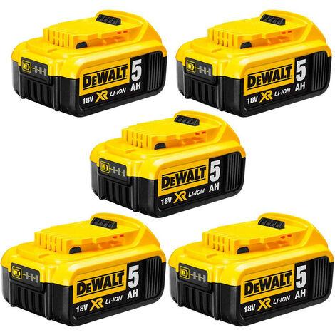 Dewalt DCB184 18v XR 5.0Ah Battery - 5 Pack