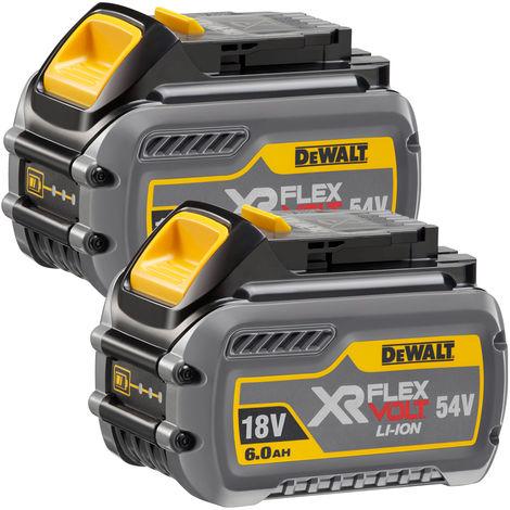 DeWalt DCB546 18V/54V 6.0 / 2.0Ah Li-ion FlexVolt XR Slide Battery Twin Pack