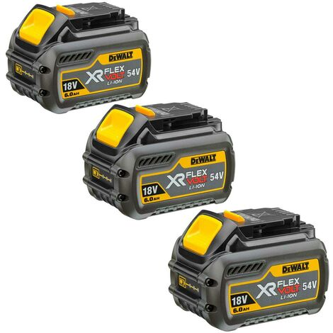 DeWalt DCB546 XR 6.0ah Flexvolt 18/54v Battery - Pack of 3