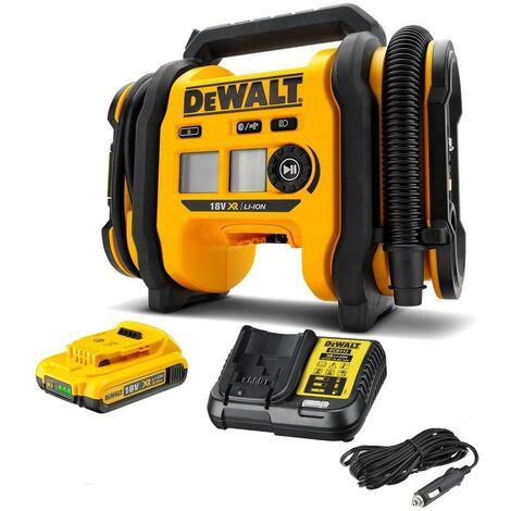 DeWalt DCC018 18V XR Cordless Inflator Triple Source + 18v Battery + Charger