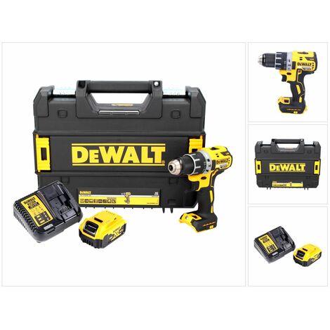 DeWALT DCD 791 P1 Taladro atornillador inalámbrico XR 18 V en maletín TSTAK + 1x Batería DCB 184 5,0 Ah + Cargador DCB 115