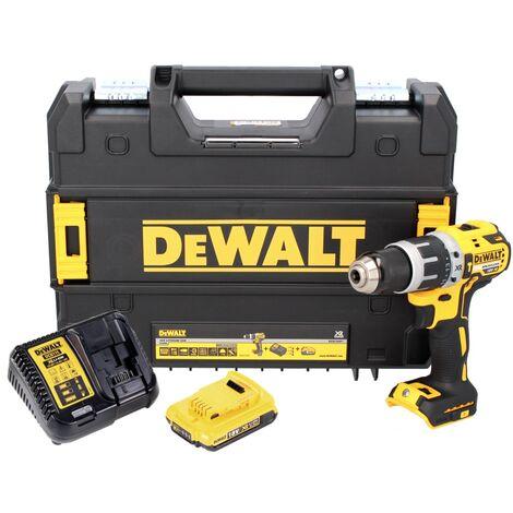 DeWALT DCD 796 D1 Taladro percutor inalámbrico sin escobillas XR 18 V en bolsa deportiva + 1x Batería DCB 183 2,0 Ah + Cargador DCB 115
