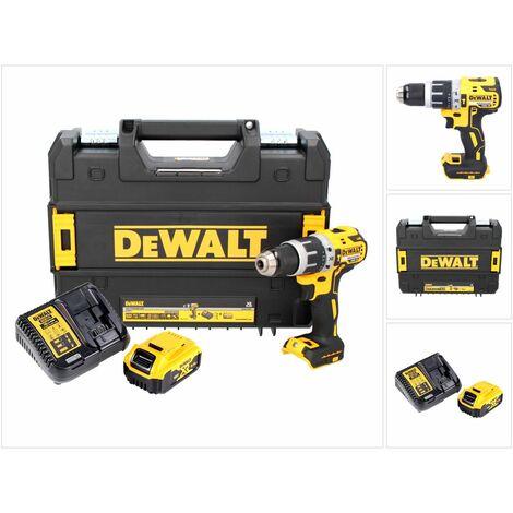 DeWALT DCD 796 P1 Taladro percutor inalámbrico sin escobillas XR 18 V en maletín TSTAK + 1x Batería DCB 184 5,0 Ah + Cargador DCB 115