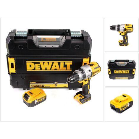 DeWalt DCD 991 18 V Brushless Li-Ion Perceuse-visseuse sans fil 3 vitesses + Coffret TSTAK II + 1 x Batterie DCB 184 5,0 Ah - sans Chargeur