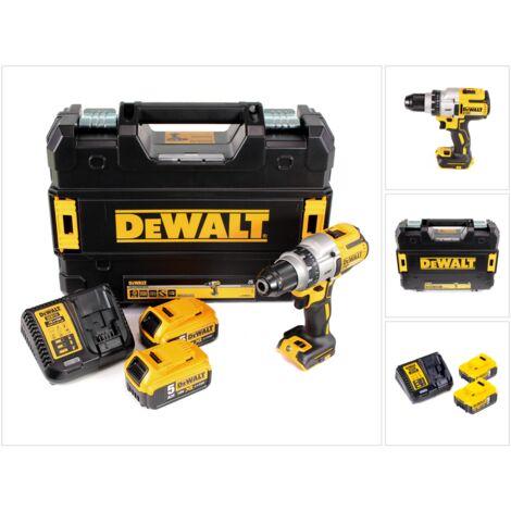 DeWalt DCD 991 P2 18 V Brushless Li-Ion Perceuse visseuse sans fil avec boîtier TSTAK II + 2x Batteries DCB 184 5,0 Ah + Chargeur DCB 115 XR