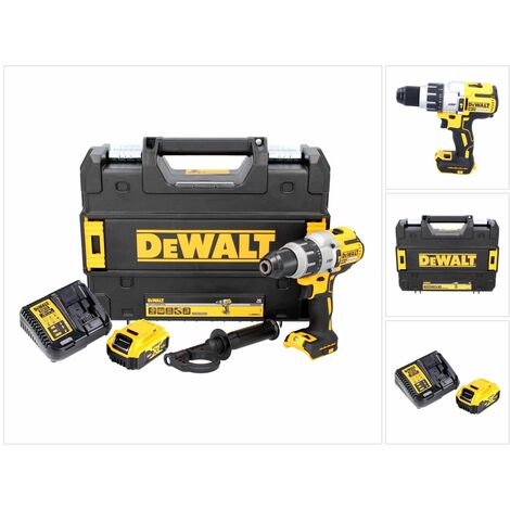 DeWALT DCD 996 P1 Taladro percutor a batería XR 18V en maletín TSTAK + 1x Batería DCB 184 5,0 Ah + Cargador DCB 115