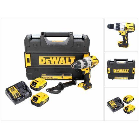 DeWalt DCD 996 P2 18 V Brushless Li-Ion Perceuse-visseuse à percussion sans fil avec boîtier TSTAK + 2x Batteries DCB 184 5,0 Ah + Chargeur DCB 115
