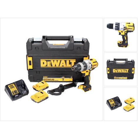 DeWALT DCD 996 Taladro percutor a batería XR 18V en maletín TSTAK + 2x Batería DCB 183 2,0 Ah + Cargador DCB 115