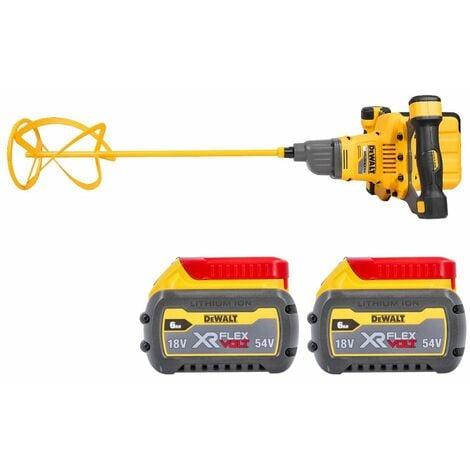 Dewalt DCD240 54V Flexvolt Brushless Paddle Mixer With 2 x 6.0Ah Batteries