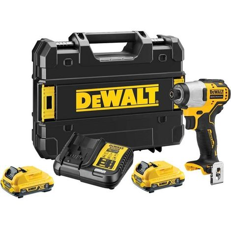DeWalt DCD701D2 12V XR Brushless Sub-Compact Drill Driver with 2 x 2Ah Batteries