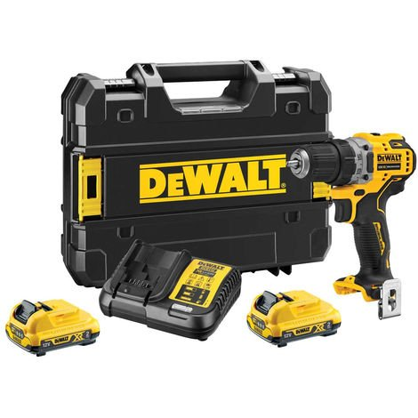 Dewalt DCD701D2 12V XR Brushless Compact Drill Driver with 2 x 2.0Ah Batteries Charger & Case:12V