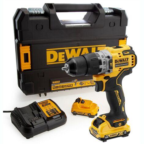 Dewalt DCD706D2 12v XR Brushless Compact Combi Hammer Drill - 2 x 2.0ah Battery