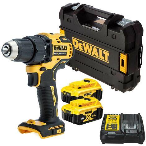 "main image of ""Dewalt DCD708 18v XR Li-Ion Brushless Compact Combi Hammer Drill 2 x 5.0Ah Batt"""