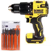 DeWalt DCD796 18V Brushless XR Combi Drill with 6 Piece Flat Wood Drill Bit Set