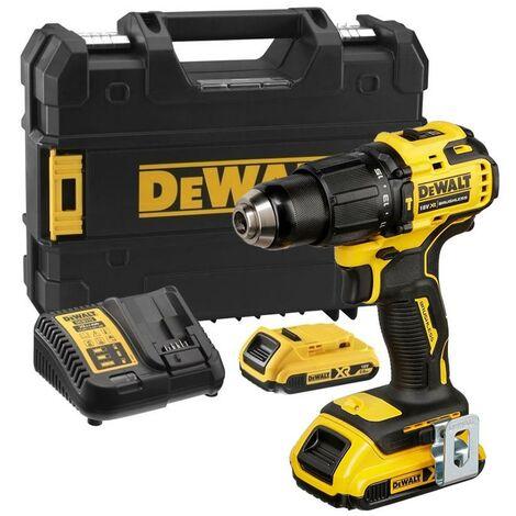Dewalt DCD709D2T 18v XR Brushless Compact Combi Hammer Drill Tstak - 2 x 2.0ah