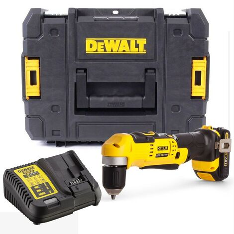 Dewalt DCD740D1 18v XR 2 Speed Right Angle Drill Lithium -1 Battery Charger Case