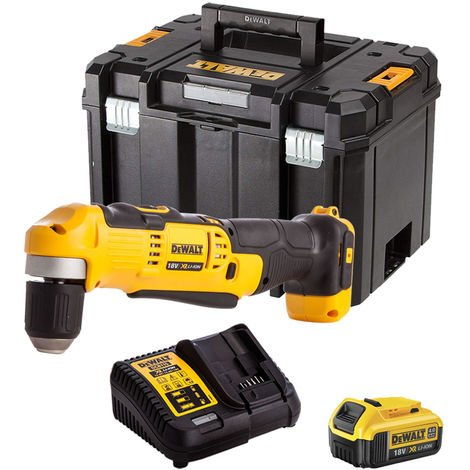Dewalt DCD740N 18V Right Angle Drill with 1 x 4.0Ah Battery & Charger in TSTAK:18V