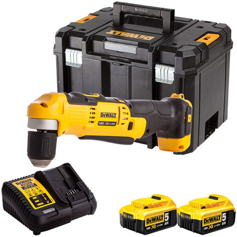 Dewalt DCD740N 18V Right Angle Drill with 2 x 5.0Ah Batteries & Charger in TSTAK:18V