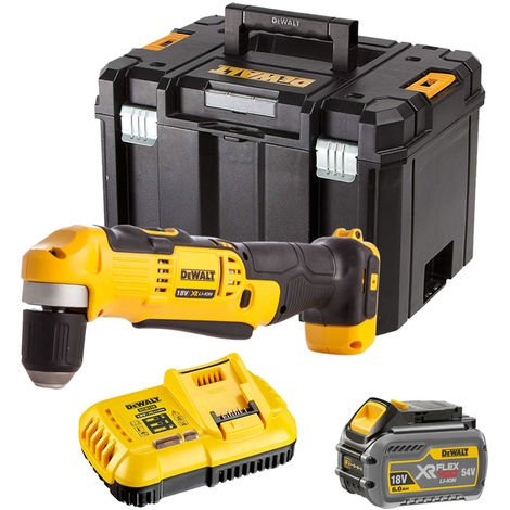 Dewalt DCD740T1 18V Right Angle Drill with 1 x 6.0Ah Battery & Charger in TSTAK:18V