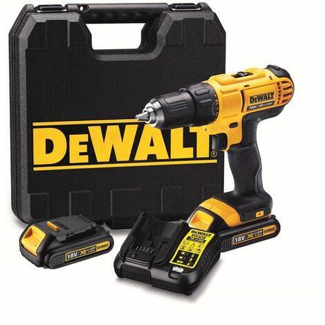DeWalt DCD771C2 Perceuse visseuse à batteries 18V Li-Ion set (2x batterie 1,3Ah) dans coffret
