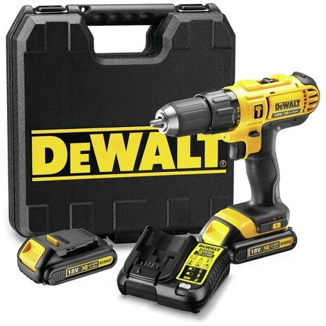 DEWALT DCD776C2-QW - Taladro Percutor XR 18V 13mm 42Nm con 2 baterias Li-Ion 1.3Ah y maletin