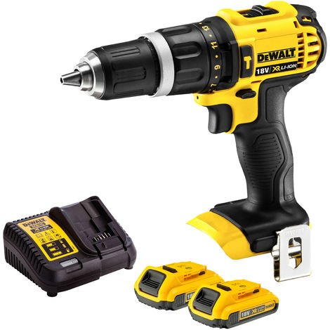 Dewalt DCD785N 18V 2 Speed Combi Drill with 2 x 2.0Ah Batteries & Charger