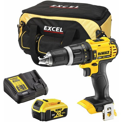 Dewalt DCD785N 18V Compact Combi Drill with 1 x 4.0Ah Battery Charger & Bag