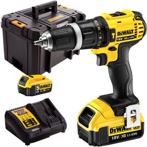 DeWalt DCD785N 18V Compact Combi Drill with 2 x 5.0Ah Batteries & Charger in Case