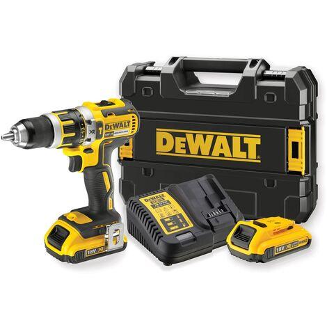 DeWalt DCD795D2 18V Li-Ion batería Taladro combinado set (2x2.0Ah batería) en TSTAK - sin escobillas