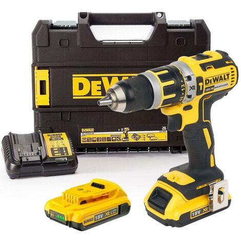 Dewalt DCD795D2 18v XR Brushless Compact Combi Hammer Drill - 2 x 2.0ah Battery