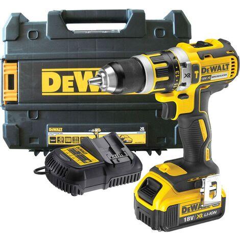 Dewalt DCD795P1 18v XR Brushless Compact Combi Hammer Drill - 1 x 5.0ah Battery