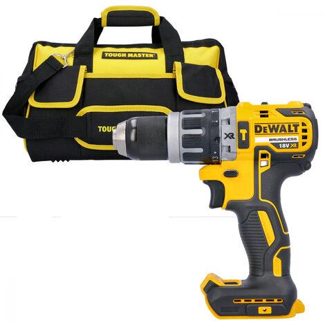 "DeWalt DCD796 18V Brushless Combi Drill With 16\"" 27 Pockets Tool Bag"