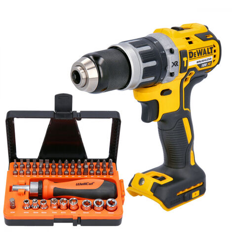 DeWalt DCD796 18V Brushless Combi Drill With 44 pcs Multipurpose Accessories Set
