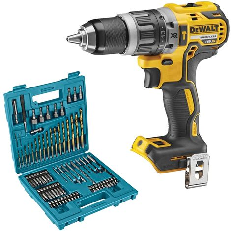 DeWalt DCD796 18V Brushless Combi Drill With B-49373 75 Piece Drill & Screwdriver Set