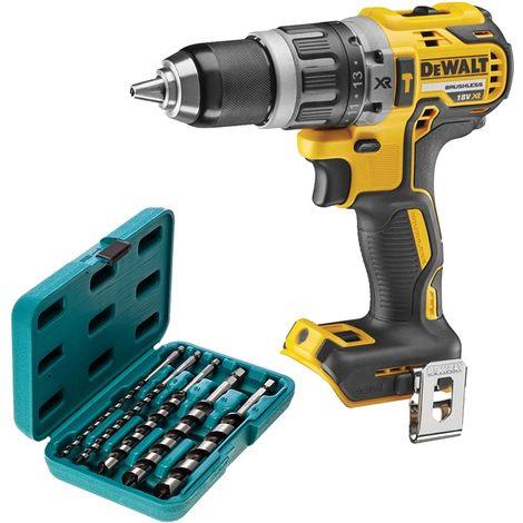 DeWalt DCD796 18V Brushless Combi Drill With P-46464 5 Piece Hexagon Auger Bit Set