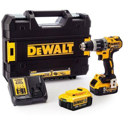 Dewalt DCD796 18v Brushless Combi Hammer Drill x1 4ah x1 5ah Battery XMS18CD18V
