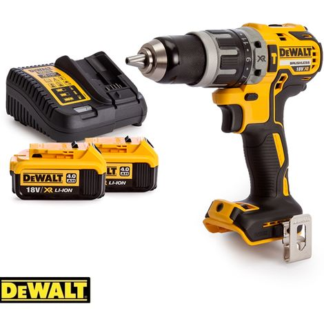 Dewalt DCD796 18v Brushless Compact Combi Drill With 2 x 4.0Ah Batteries & Charger