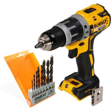 DeWalt DCD796 18V Brushless XR Combi Drill With 8 Piece Wood Drill Bit Set