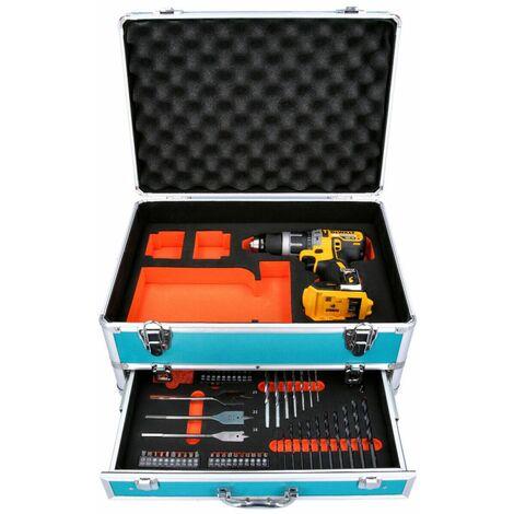 DeWalt DCD796 18V XR BL Combi Drill With 70 Piece Accessory Set in Aluminum Case