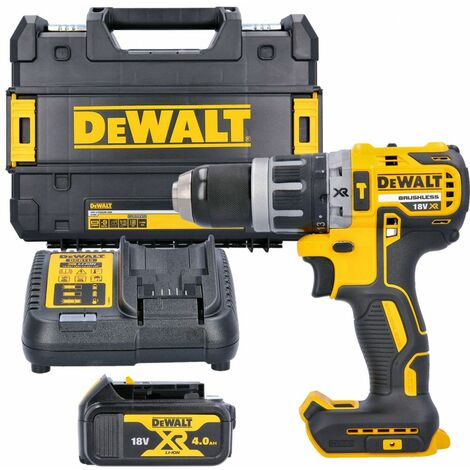 Dewalt DCD796 18v XR Brushless Combi Drill With 1 x 4.0Ah Battery, Charger & Case