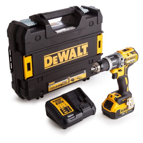 Dewalt DCD796M1 18V Brushless Combi Drill With 1 x 4.0Ah Li-ion Battery & Charger In Carry Case:18V
