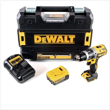 DEWALT DCD796M1 - 18v XR Brushless Compact Combi Drill with 1 x 4A Lithium-Ion Batteries |